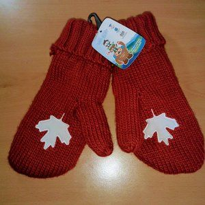 Vancouver Olympic 2010 Red Mittens Size L-XL